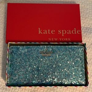 Kate Spade Blue Glitter Bug Stacy NEW